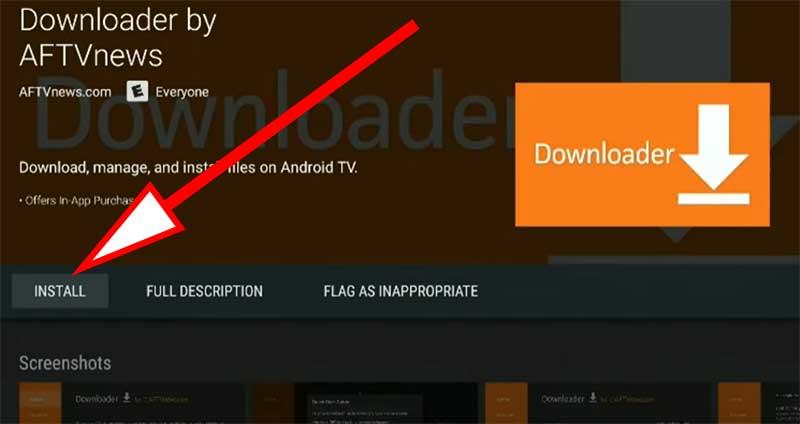 install downloader on nvidia Shield TV