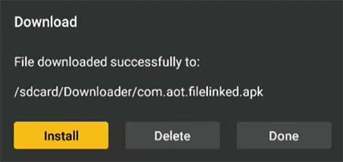 install filelinked on nvidia shield tv