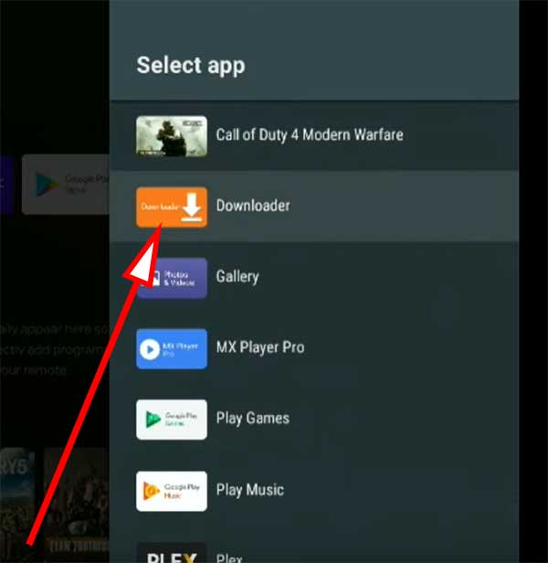 select downloader app nvidia shield tv