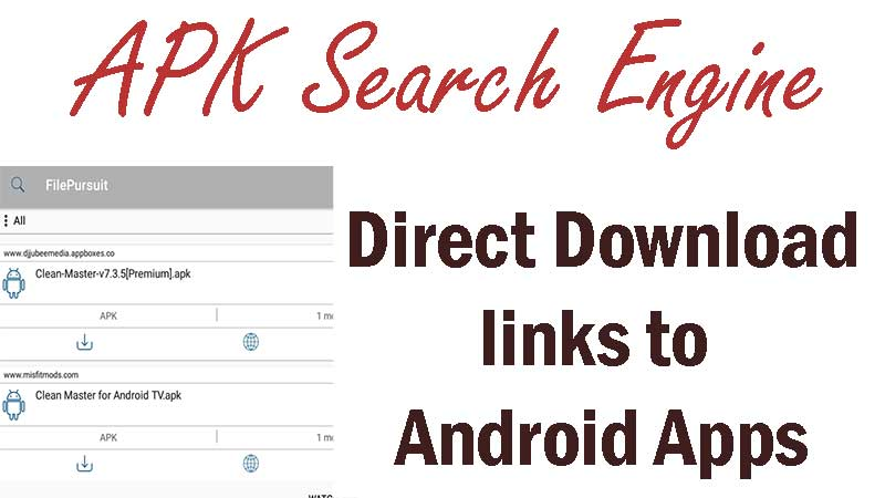 APK search engine