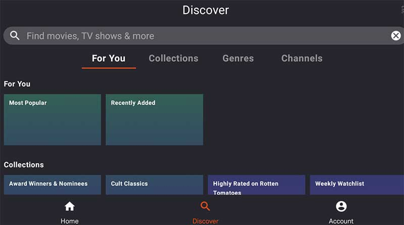 Tubi Discover Movies