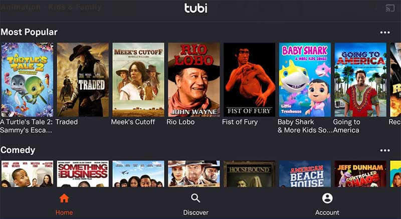 Tubi Movies and TV Shows